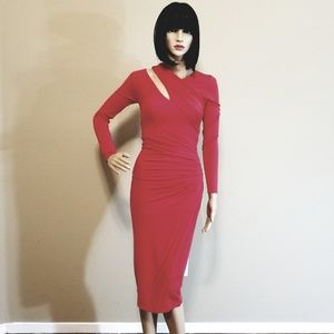 MARCIANO Berry-Red Maxi Dress